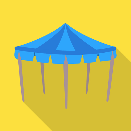Isolated object of canopy and tent logo. Set of canopy and cover stock symbol for web.