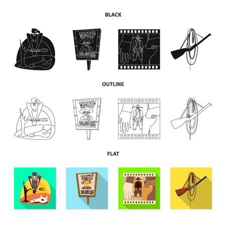 Objeto aislado de texas e icono de historia. Colección de símbolo de stock de texas y cultura para web.