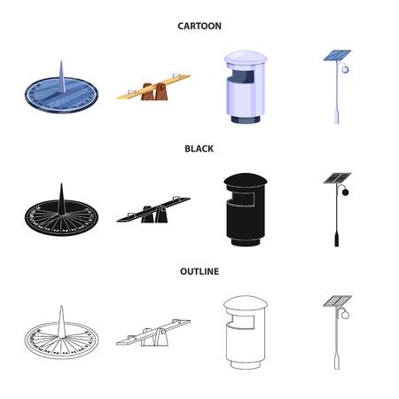 Conception vectorielle du logo urbain et de la rue. Collection d'icônes vectorielles urbaines et de détente pour le stock.