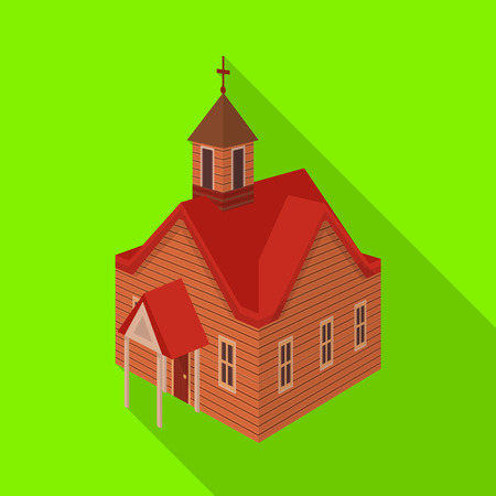 Vector design of church and house logo. Collection of church and old stock symbol for web.