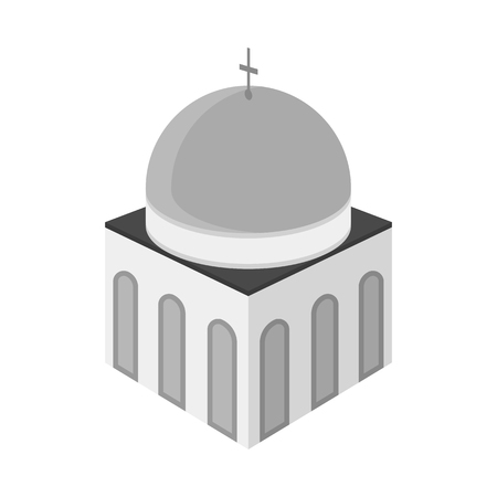 Isolated object of church and orthodox icon. Collection of church and cross vector icon for stock.