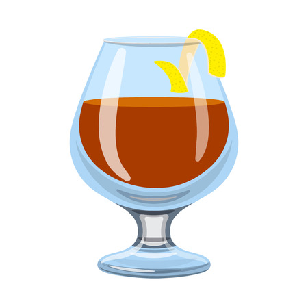Vector illustration of glass and cognac logo. Set of glass and ice vector icon for stock.