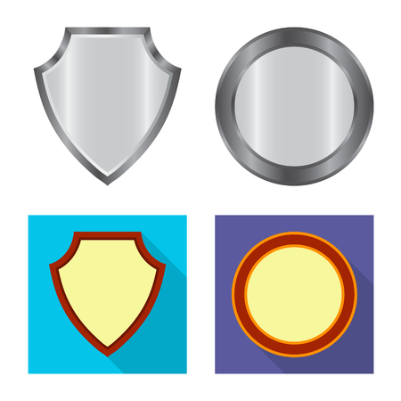 Isolated object of emblem and badge symbol. Collection of emblem and sticker vector icon for stock. Stockfoto - 122146085