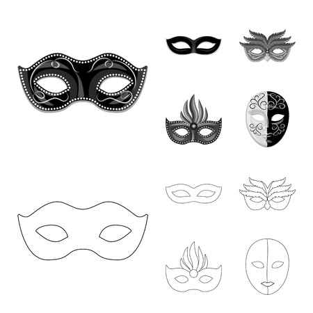 Vector illustration of luxury and celebration icon. Set of luxury and hide vector icon for stock. Vektorgrafik