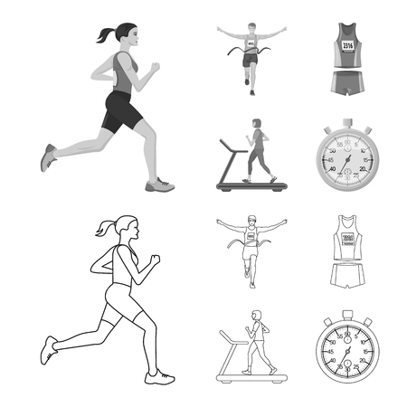 Isolated object of sport and winner sign. Collection of sport and fitness stock symbol for web.