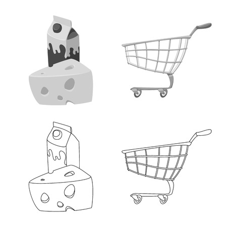 Vector design of food and drink icon. Set of food and store vector icon for stock. Illustration