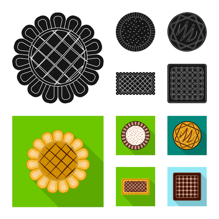 Vector design of biscuit and bake icon. Set of biscuit and chocolate stock symbol for web. Иллюстрация