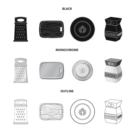 Isolated object of kitchen and cook icon. Collection of kitchen and appliance stock symbol for web.  イラスト・ベクター素材