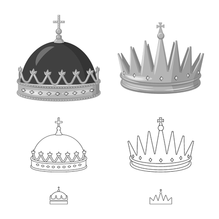 Vector design of medieval and nobility icon. Set of medieval and monarchy stock vector illustration. 写真素材 - 122294607