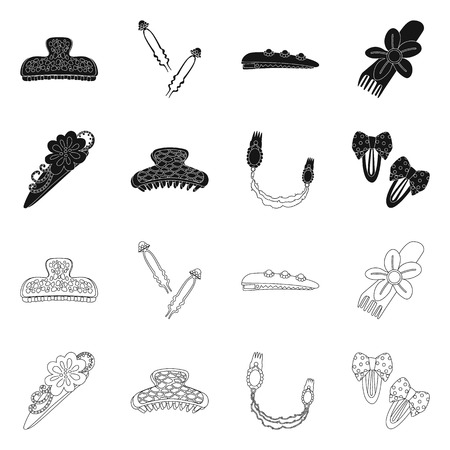 Vector illustration of beauty and fashion symbol. Set of beauty and female vector icon for stock.