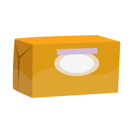 Isolated object of butter and pack logo. Collection of butter and fat stock symbol for web.