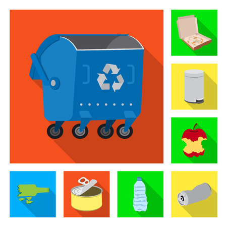 Isolated object of dump  and sort icon. Set of dump  and junk stock vector illustration. Banque d'images - 122349504