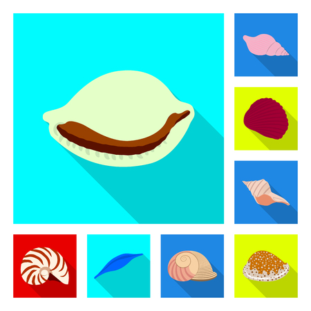Isolated object of animal and decoration sign. Collection of animal and ocean vector icon for stock.