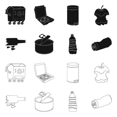 Vector illustration of dump  and sort logo. Collection of dump  and junk stock vector illustration. Banque d'images - 122349624