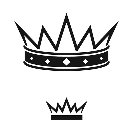 Vector design of king and majestic logo. Set of king and gold vector icon for stock.