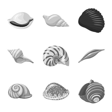 Ilustración de vector de acuario e icono acuático. Colección de ilustración de vector stock acuario y decoración.