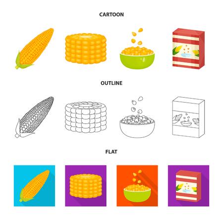 Na białym tle obiekt niwa i ikona warzyw. Zestaw niwa i wegetariańska Stockowa ilustracja wektorowa.