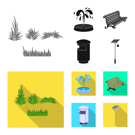 Vector design of urban and street icon. Set of urban and relaxation stock vector illustration.