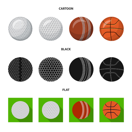 Vector illustration of sport and ball logo. Set of sport and athletic vector icon for stock.