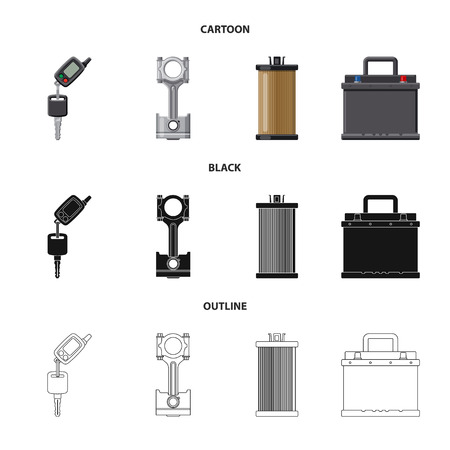 Isolated object of auto and part sign. Set of auto and car vector icon for stock.