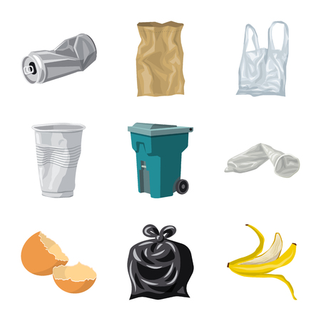 Vector illustration of environment  and waste symbol. Collection of environment  and ecology vector icon for stock.
