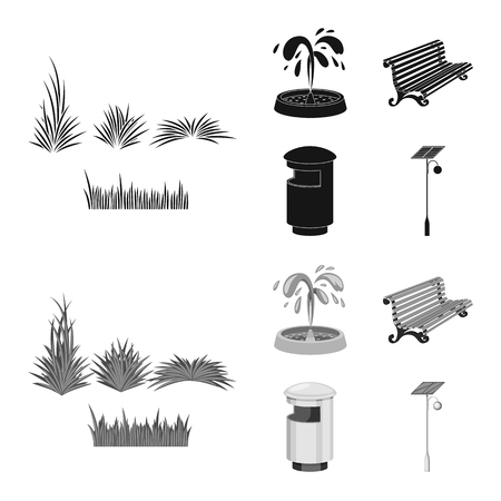 Isolated object of urban and street. Set of urban and relaxation vector icon for stock.