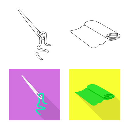 Vector illustration of craft and handcraft symbol. Collection of craft and industry stock symbol for web. Illustration