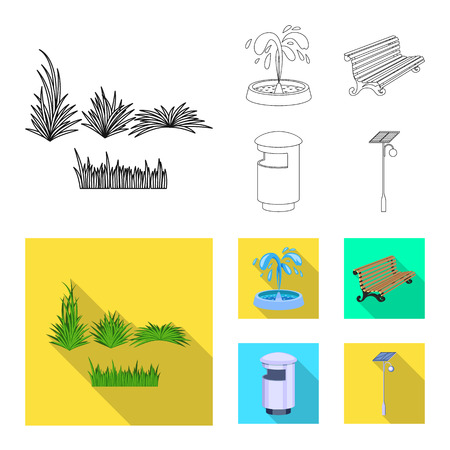 Isolated object of urban and street symbol. Collection of urban and relaxation vector icon for stock.