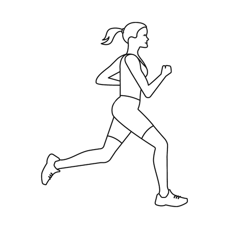 Vector design of exercise and sprinter  sign. Set of exercise and marathon vector icon for stock. 일러스트
