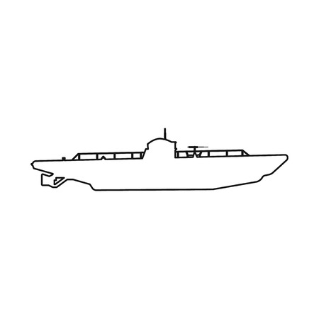 Vector design of boat and navy sign. Set of boat and deep   vector icon for stock.