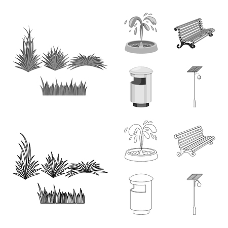Vector design of urban and street symbol. Set of urban and relaxation stock vector illustration.