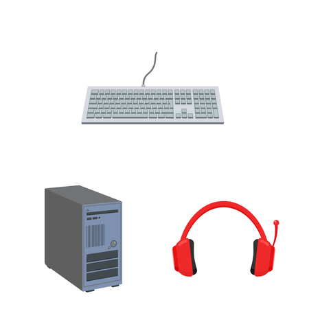 Vector design of laptop and device symbol. Collection of laptop and server vector icon for stock. 일러스트