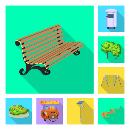 Vector design of urban and street icon. Set of urban and relaxation stock vector illustration. Illustration