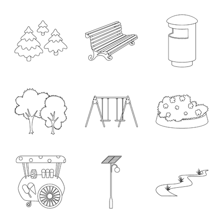 Isolated object of landscape and nature logo. Set of landscape and city stock vector illustration.
