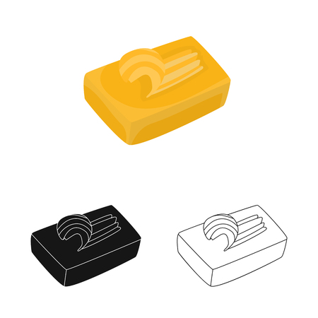 Isolated object of butter and cream symbol. Set of butter and fat stock symbol for web. Ilustracja