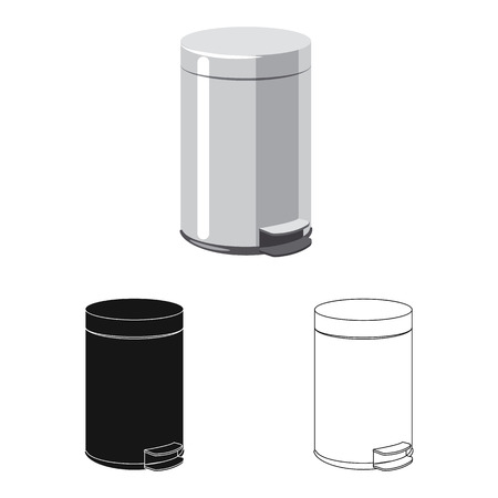 Vector illustration of dump  and sort icon. Set of dump  and junk stock vector illustration. Ilustrace