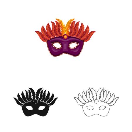 Vector illustration of luxury and celebration logo. Collection of luxury and hide  stock vector illustration.