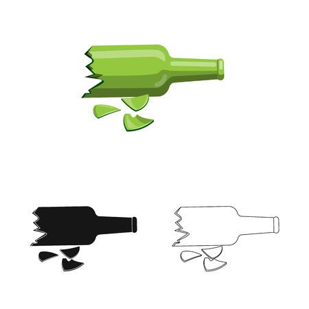 Vector illustration of dump  and sort symbol. Collection of dump  and junk vector icon for stock. Ilustracja