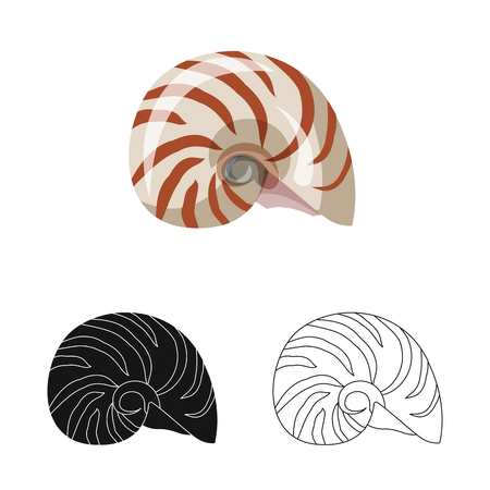 Vector design of animal and decoration logo. Set of animal and ocean vector icon for stock.