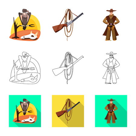 Vector design of texas and history icon. Collection of texas and culture stock vector illustration.