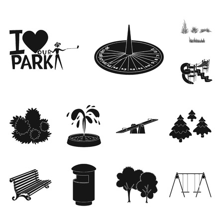 Isolated object of public and relaxation. Collection of public and park vector icon for stock.