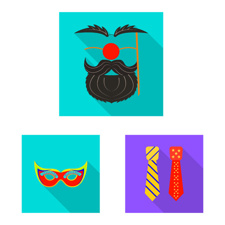Vector design of party and birthday. Set of party and celebration stock symbol for web.