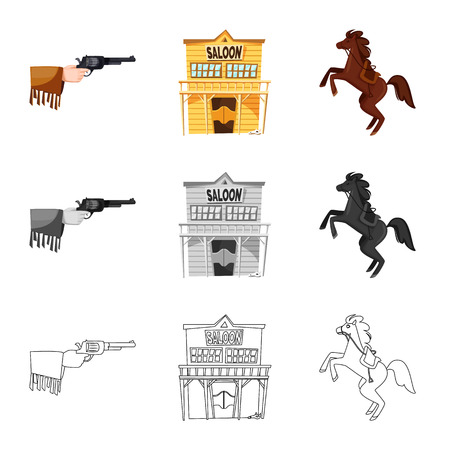Isolated object of texas and history icon. Set of texas and culture stock vector illustration. Illustration