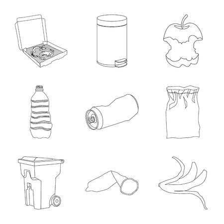 Isoliertes Objekt des Müll- und Ökologiesymbols. Sammlung von Müll und Recycling-Aktiensymbol für das Web.
