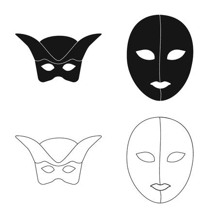 Vector illustration of luxury and celebration symbol. Set of luxury and hide  stock vector illustration.