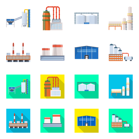 Isolated object of production and structure symbol. Collection of production and technology vector icon for stock.