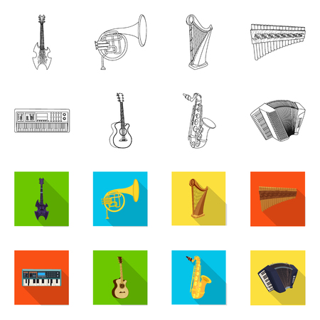 Vector design of music and tune. Collection of music and tool stock symbol for web.