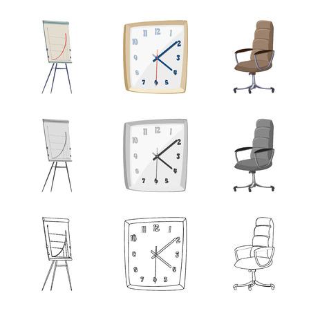 Vector illustration of furniture and work logo. Collection of furniture and home stock vector illustration.