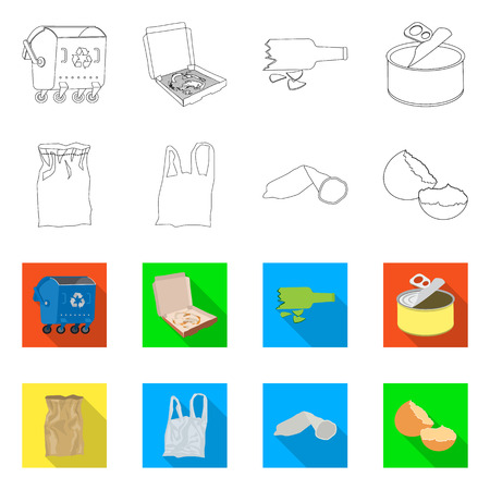 Vector illustration of dump  and sort icon. Collection of dump  and junk vector icon for stock. Illustration