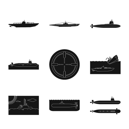 Vector illustration of technology  and fleet logo. Set of technology  and navy vector icon for stock. 일러스트